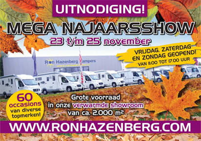 MEGA najaarshow 23 t/m 25 november 2012 - campers