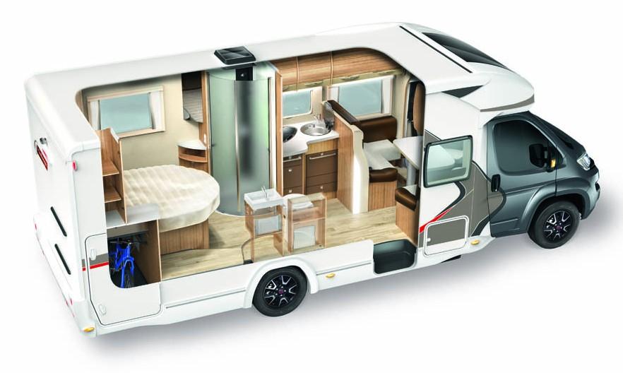 Aménagement intérieur camping car  Chausson, fabricant de